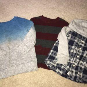 Lot of Boys Winter Shirts